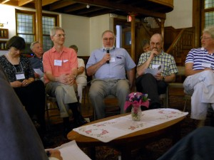 Discussion at the MCOB 50th Anniversary Reunion